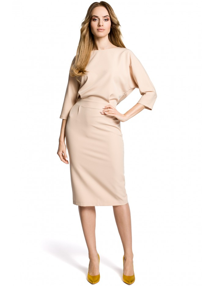 M360 Mid-lenght dress with loose fitting top - beige